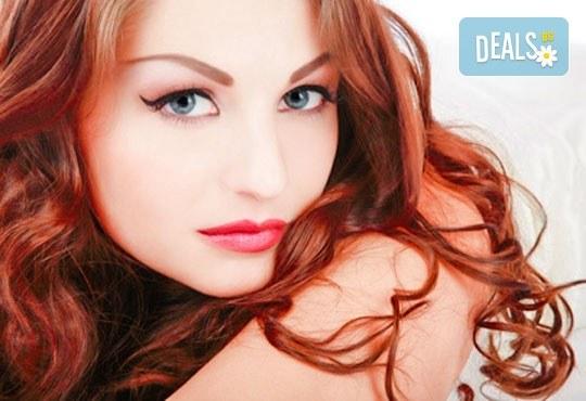 Нов цвят! Боядисване с боя на клиента, терапия с маска и оформяне на косата със сешоар в Салон за красота Belisimas! - Снимка 1