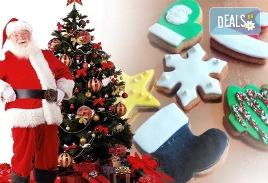 50 броя големи коледно-новогодишни меденки: снежинки, ботушчето на Дядо Коледа, елхичка, коледна шапка и други от сладкарите на Muffin House! - Снимка 2