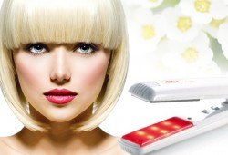 Хидратираща терапия за здрава и бляскава коса с био продукти, инфраред преса и подсушаване в студио Ma Belle! - Снимка