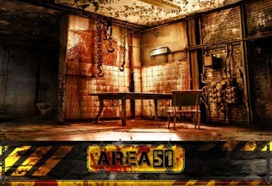 Ваучер за едночасово приключение за 2, 4 или 6 човека с много зомбита и други предизвикателства на живо в екшън стая Area 51! - Снимка
