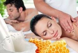 Подарете с любов! Релаксиращ Масаж Клеопатра за двама с мед и мляко, маска за лице, зонотерапия и Вана на Клеопатра в SPA център Senses Massage & Recreation! - Снимка