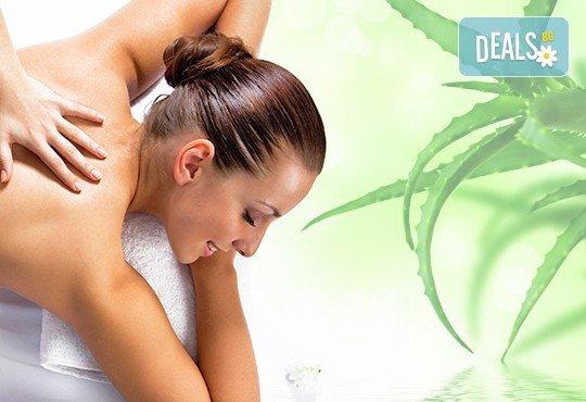 Релаксиращ лечебен масаж на гръб с етерични масла от жасмин, евкалипт и алое в Студио МАНИЯ - Снимка 3