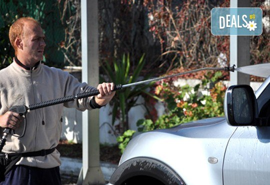 ВИП Комплексно измиване на лек автомобил лек автомобил, миниван или джип в Автомивка К.Е.Ф. и обяд в Adrenalin Bar & Dinner - Снимка 1