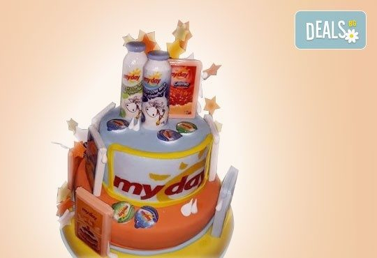 Фирмена торта с лого и индивидуален дизайн от Сладкарница Джорджо Джани! - Снимка 10
