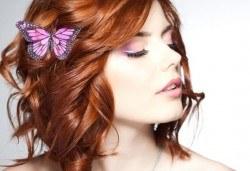 Освежете цвета на косата! Боядисване на корени на коса и оформяне със сешоар или преса в Салон Nails Club до Бизнес парк Младост! - Снимка