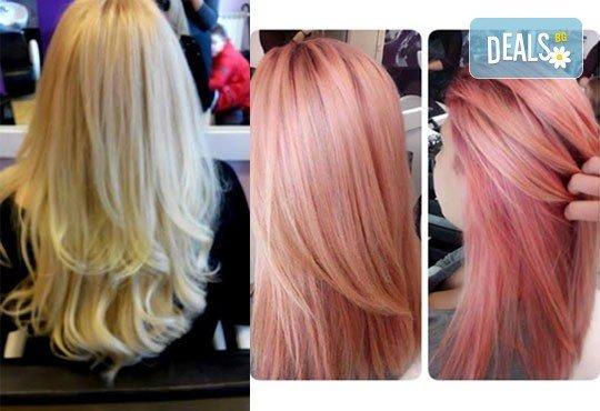 Освежете цвета на косата! Боядисване на корени на коса и оформяне със сешоар или преса в Салон Nails Club до Бизнес парк Младост! - Снимка 10