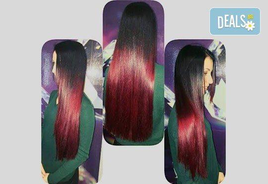 Освежете цвета на косата! Боядисване на корени на коса и оформяне със сешоар или преса в Салон Nails Club до Бизнес парк Младост! - Снимка 11