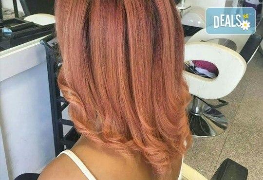 Подстригване, подхранваща терапия според типа коса и оформяне със сешоар в Салон Nails Club до Бизнес парк Младост! - Снимка 8