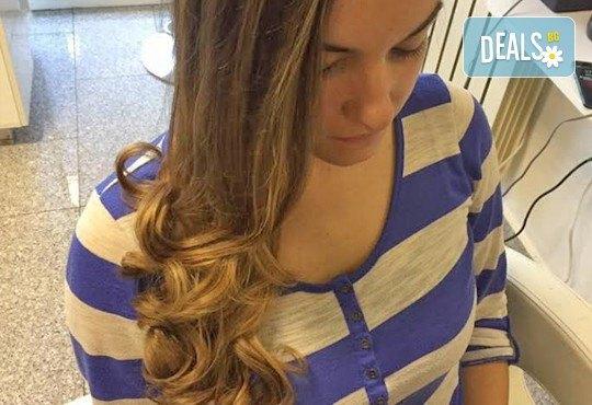 Подстригване, подхранваща терапия според типа коса и оформяне със сешоар в Салон Nails Club до Бизнес парк Младост! - Снимка 9