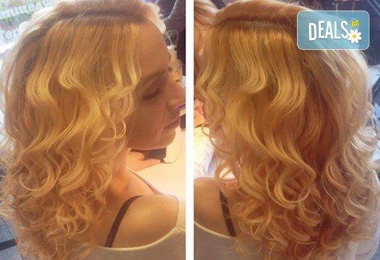 Подстригване, подхранваща терапия според типа коса и оформяне със сешоар в Салон Nails Club до Бизнес парк Младост! - Снимка 10