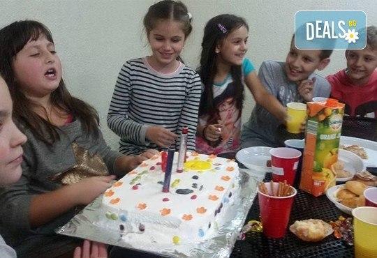 Детски рожден ден за 10 деца! 2 часа лудо парти с украса, парче пица, детски фитнес уреди, музика, възможност за аниматор Елза в Зали под наем Update - Снимка 3