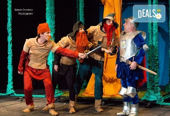 Каним Ви на смешна и забавна Приказка за Рицаря без кон в Младежки театър на 29.01. от 11ч., 1 билет - Снимка 1