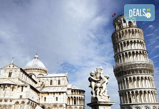 Уикенд екскурзия в Пиза, Италия: 3 нощувки със закуски в хотел 2*, двупосочен самолетен билет и летищни такси - Снимка 1