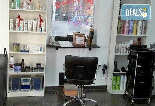 Подстригване и терапия по избор - хидратираща, интензивна или против косопад и подсушаване или сешоар в салон Краси Найл - Снимка 7