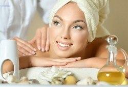 масаж на гръб или на цяло тяло и арома масаж, салон Sassy
