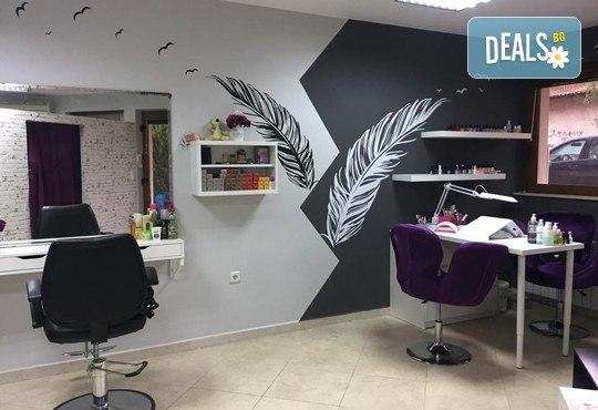 Сдобийте се с възхитителна нова прическа! Подстригване, масажно измиване, маска и прав сешоар или букли в Marbella Beauty Studio! - Снимка 5