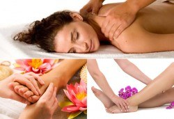 90-минутна комбинирана терапия за цяло тяло - релаксиращ, лечебен или дълбокотъканен масаж, масаж на стъпала и крака с вибромасажор или рефлексотерапия по избор - Снимка