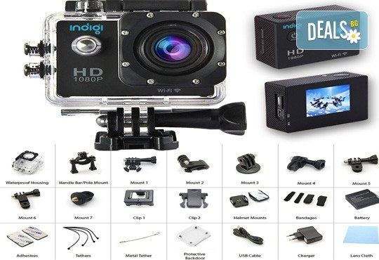 За всички любители на екстремните изживявания! Запечатайте най-добрите си моменти с професионална, водоустойчива HD камера в цвят и параметри по избор от Параклакс! - Снимка 4