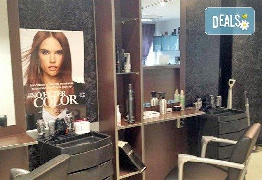 Измиване с професионални продукти LOREAL, KEAUNE или LISAP, според типа коса, оформяне на прическа със сешоар или преса и стилизиране в Beauty Studio Flash G! - Снимка 7