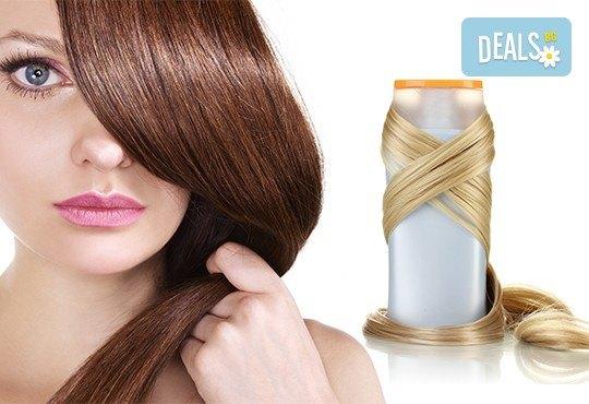 Измиване с професионални продукти LOREAL, KEAUNE или LISAP, според типа коса, оформяне на прическа със сешоар или преса и стилизиране в Beauty Studio Flash G! - Снимка 1