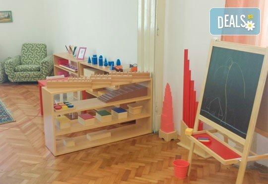 Една седмица полудневна или целодневна Монтесори занималня за деца от 2,5 г. до 7 г. в новата Цветна градина Монтесори в центъра на София! - Снимка 3