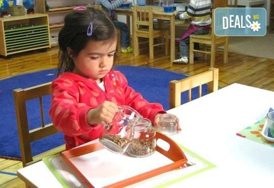 Една седмица полудневна или целодневна Монтесори занималня за деца от 2,5 г. до 7 г. в новата Цветна градина Монтесори в центъра на София! - Снимка 2