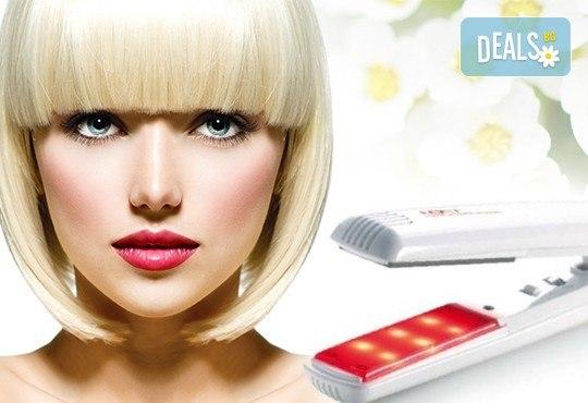 Хидратираща терапия за здрава и бляскава коса с био продукти, инфраред преса и подсушаване в студио Ma Belle! - Снимка 1