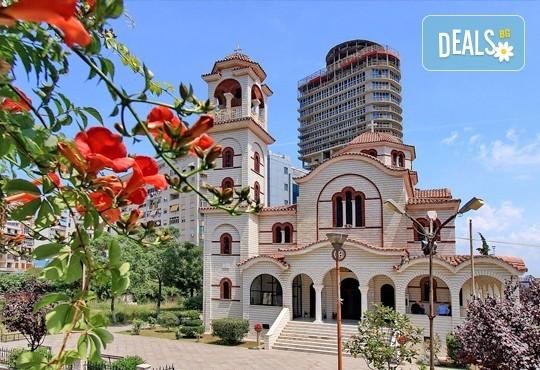 Ранни записвания за почивка в Дуръс, Албания! 5 нощувки със закуски в Хотел Леонардо 4*, транспорт, разходка до Охрид, Елбанас и Скопие - Снимка 3
