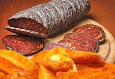 Опитайте нашето вкусно предложение на страхотна цена! Сръбска колбасица и пикантни картофи в сръбски ресторант Зафо - Снимка