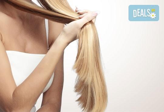 Подстригване на връхчета, дълбоко регенерираща терапия за коса с каулинова глина за плътност и здравина и прав сешоар в Козметично студио Beauty! - Снимка 2