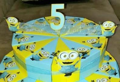 Една различна торта за всеки повод! Хартиена торта за рожден ден, парти в детската градина или кръщене от Арт Фантастико - Снимка