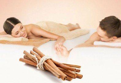 Ароматен релакс масаж на гръб с канела за ДВАМА плюс Hot stones и масаж на лице в SPA ''Senses Massage & Recreation'' - Снимка