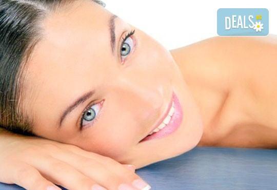 Дълбокотъканен, болкоуспокояващ масаж на гръб и козметичен масаж на лице с професионална козметика Glory в салон за красота Perfect! - Снимка 3