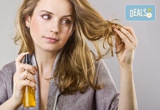 Терапия за увредена коса, против косопад или пърхот, измиване с шампоан и нанасяне на маска и подхранващо олио и ежедневна прическа в Studio One - Снимка 2