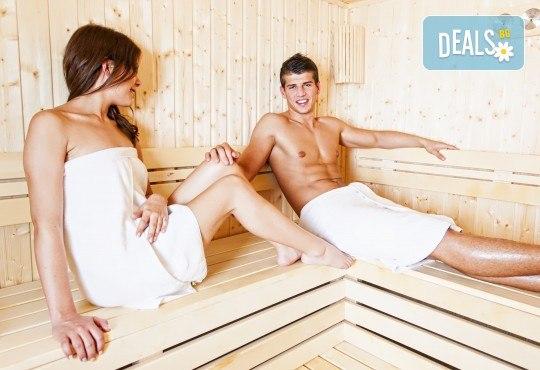 Релакс за двама! СПА процедура по избор за двама: сауна или парна баня в модерния Фитнес център BELIZE! - Снимка 1