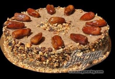 """Шоколадова торта """"ФУРМИ"""" от сладкарница Лагуна - нова екзотична торта с тъмно ароматно какао и нежен орехов крем - Снимка"""