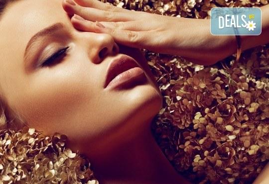 Golden Therapy за лице - енергизираща и витализираща терапия със злато с лифтинг ефект и висок клас професионални продукти в Relax Beauty - Снимка 2
