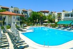 Великден в Анталия на супер цена! 5 нощувки на база All Inclusive в Gardenia Beach 4*, двупосочен билет за директен чартърен полет, летищни такси и трансфери - Снимка