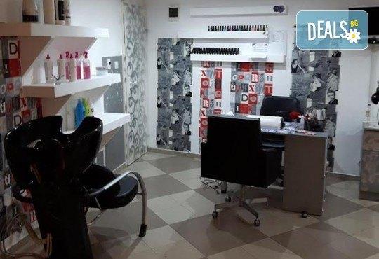 Боядисване с боя на клиента, подстригване и изправяне с преса и терапия за блясък на косата с продукти на Schwarzkopf, ART ADRIA! - Снимка 3