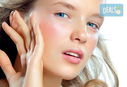 Перфектно лице! Почистване на лице, съчетано с антиакне, избелваща или подмладяваща терапия с хиалурон по избор от студио за красота Five! - Снимка 1