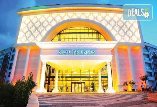 Почивка в Анталия през април или май! 7 нощувки на база All Incl в Side Prenses Resort Hotel & Spa 5*, билет, летищни такси и трансфери! - Снимка 2