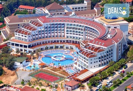 Почивка в Анталия през април или май! 7 нощувки на база All Incl в Side Prenses Resort Hotel & Spa 5*, билет, летищни такси и трансфери! - Снимка 1
