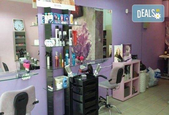 Масажно измиване на косата, поставяне на ампула за заздравяване на косъма, оформяне със сешоар или преса и бонус в студио за красота L Style! - Снимка 6