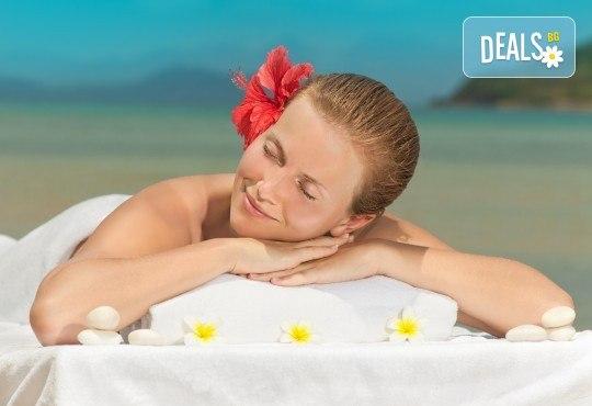 Екзотичен СПА ден: Хавайски ломи-ломи, френска винена терапия, тайландски билкови торбички и китайски точков масаж от студио Spa Deluxe - Снимка 1