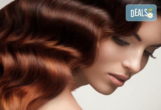 Неповторима визия с естествен акцент - балеаж с уникален продукт и арганова терапия за къса или дълга коса от Дерматокозметични центрове Енигма! - Снимка 1