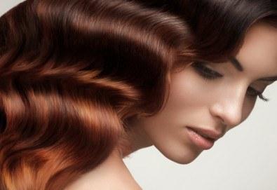 Неповторима визия с естествен акцент - балеаж с уникален продукт и арганова терапия за къса или дълга коса от Дерматокозметични центрове Енигма! - Снимка