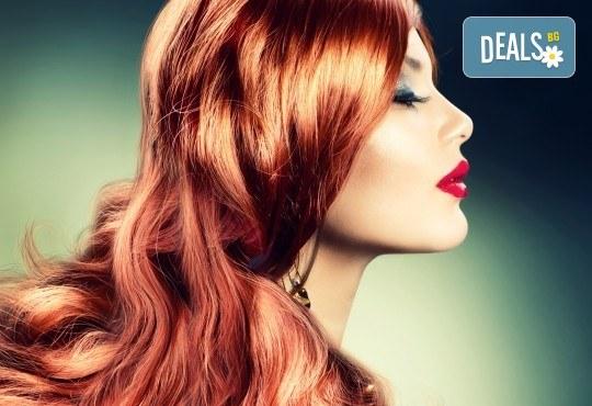 Добави свеж цвят в косата! Боядисване с боя на клиента, масажно измиване и сешоар с или без подстригване от студио Five! - Снимка 1