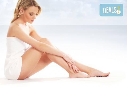 5 процедури антицелулитни мануални и апаратни масажа с вибромасажор на цели крака и седалище, пилинг на три зони в салон Bellissima Donna - Снимка 2