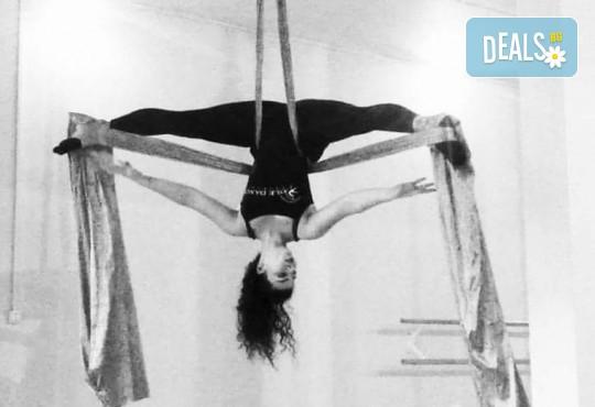 Опитайте нещо ново и нетрадиционно! 2 посещения по ваш избор: пол денс, екзотик пол денс или въздушна акробатика (обръч и воали) в Pole Dance Bulgaria! - Снимка 3