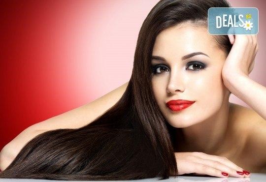 Над 3 месеца трайно права коса чрез термоизправяща кератинова формула на Alfaparf Milano в Студио за красота Angels of Beauty! - Снимка 1